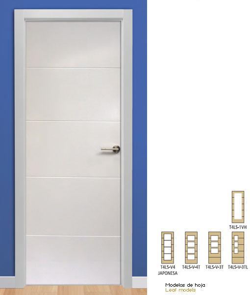 Puertas interiores lacadas en blanco cool puerta de - Puertas de paso lacadas en blanco ...