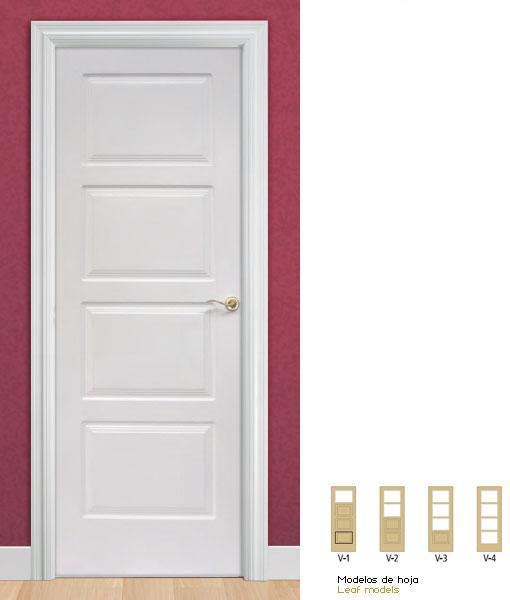 Puertas lacadas de interior en blanco con precios econ micos - Precio puertas lacadas blanco ...