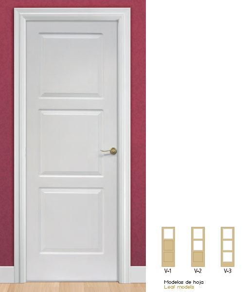 Puertas lacadas de interior en blanco con precios econ micos for Puertas precios interior