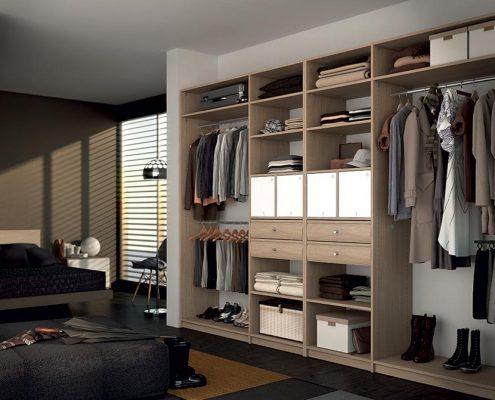 Armario vestidor en habitación